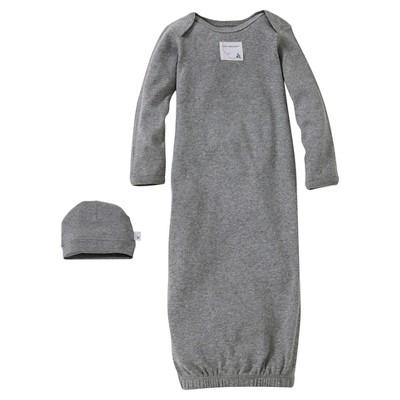Burt's Bees Baby™ Newborn Nightgown - Heather Gray 0-9 M