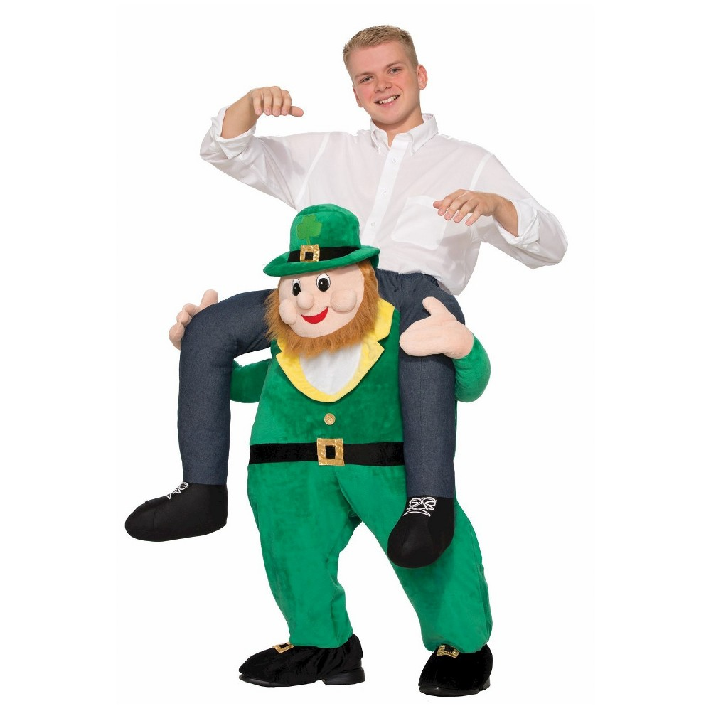 Mens St. Patricks Day Once Upon a Leprechaun Costume, Yellow
