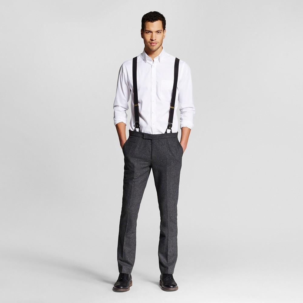 Men's Suit Pants Charcoal (Grey) 33×32 – WD-NY Black