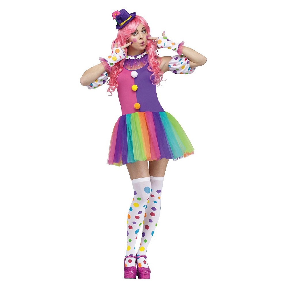 Clownin Around Womens Costume One Size Fits Most, Pink