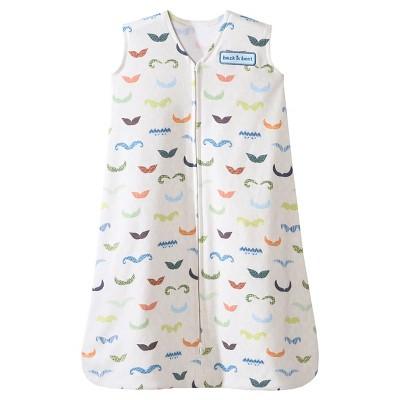 HALO SleepSack 100% Cotton Wearable Blanket - Mustache - Medium