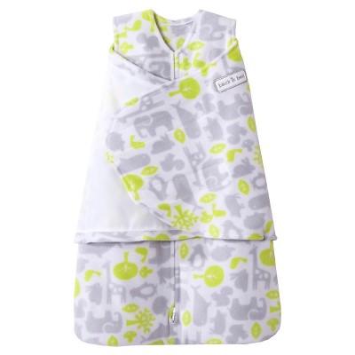 HALO SleepSack Micro-Fleece Swaddle - Animal Puzzle - Small