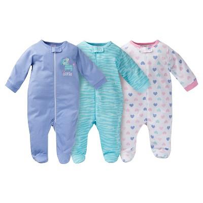 Gerber® Baby Sleep N' Play Full Body Sleepwear - Zebra Print Purple 42530 M