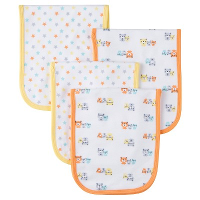 Gerber® 4 pack Burp Cloth - Bear Print One Size