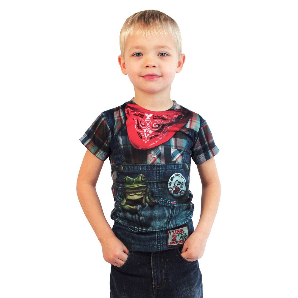 Toddler Boys Hillbilly Costume T-Shirt 2T, Blue