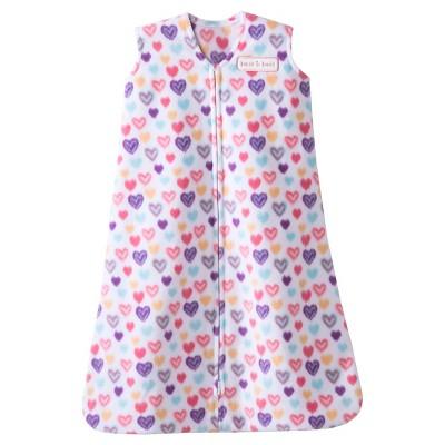 HALO SleepSack Micro-Fleece Wearable Blanket - Ikat Heart - Medium
