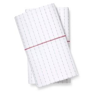 Brooklyn & Bond Poplar Dot Pillow Case King White&Grey, White/Grey