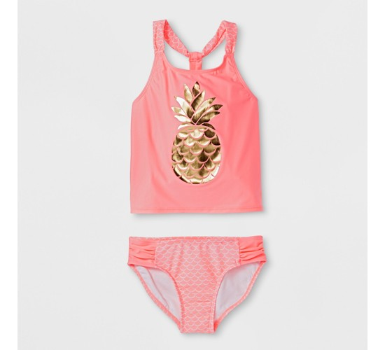 Girls' Lone Pineapple Tankini Set - Cat & Jack™ Pink