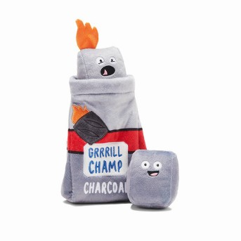 BARK Charcoal Dog Toy - Grill Champ Charcoal