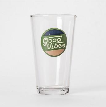 Pint Glass Good Vibes 16oz - Room Essentials™