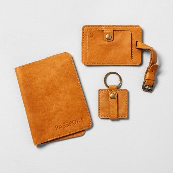 Passport, Cord Holder, Luggage Tag Travel Set - Hearth & Hand™ with Magnolia