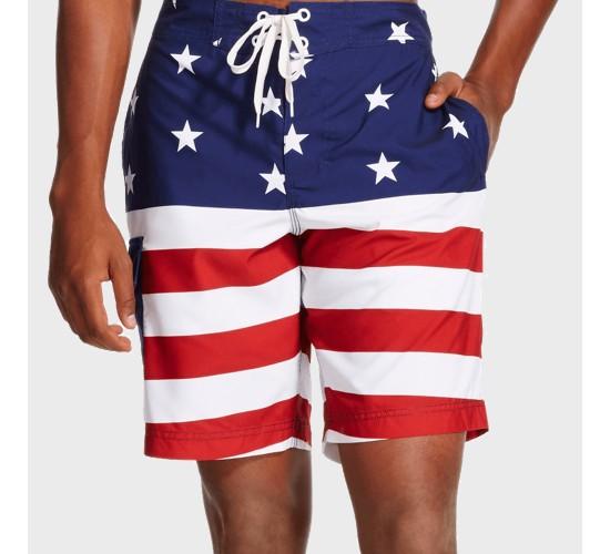 Men's Americana® Flag Swim Trunks Red/White/Blue