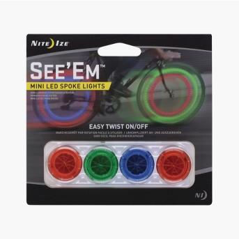 Nite Ize® See'Ems™ Mini LED Spoke Lights 4pk