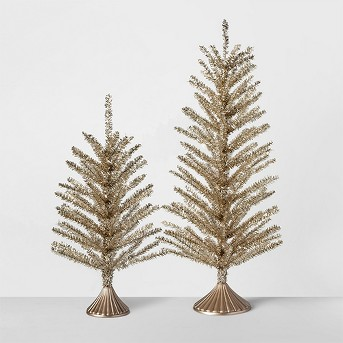 Decorative Pine Tree Small - Gold - Opalhouse™, Decorative Pine Tree Large - Gold - Opalhouse™