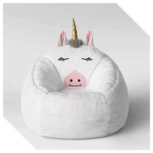 Super Character Bean Bag Pouf White Unicorn Pillowfort Target Forskolin Free Trial Chair Design Images Forskolin Free Trialorg