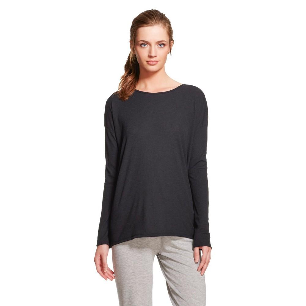 Women's Sleepwear Knit Tunic Top - Black M
