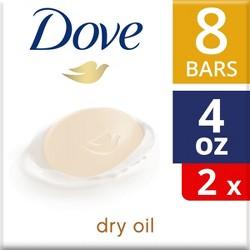 Dove Dry Oil Beauty Bar - 8ct - 4oz