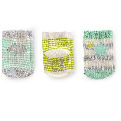 Just One You™ Made by Carter's® Toddler Girls' 3pk Sheep Casual Sock - White/Green/Gray 0-3 M