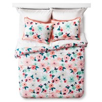 Floral Printed Comforter Set - Xhilaration. opens in a new tab.