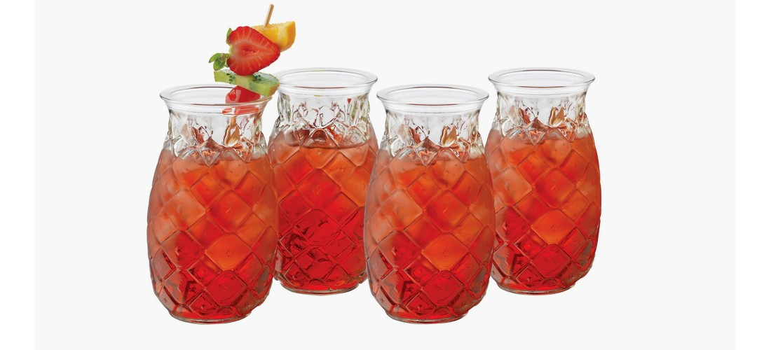 Libbey® Pineapple Short Tumblers 17oz - Set of 4