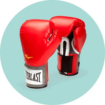 Everlast Premium Synthetic Leather Sparring Gloves - Red