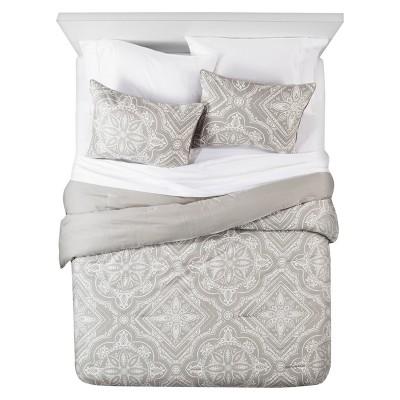 Dark Gray Tile Comforter Set (Queen)3pc - The Industrial Shop™