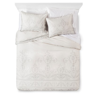 Cream Vintage Gate Comforter Set (Queen)3pc - The Industrial Shop™