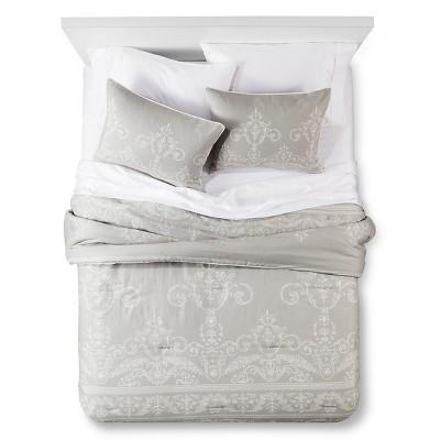 Light Gray Vintage Gate Comforter Set (Queen)3pc - The Industrial Shop™