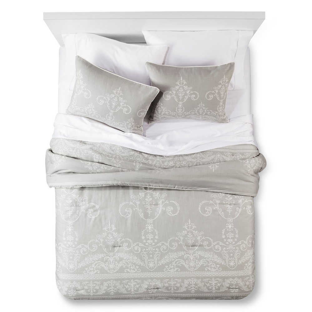 Light Grey Vintage Gate Comforter Set (Queen) 3-pc – The Industrial Shop, Gray