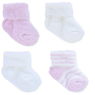 Just One You™ Made by Carter's® Baby Girls' 4pk Socks - White/Pink 0-3M