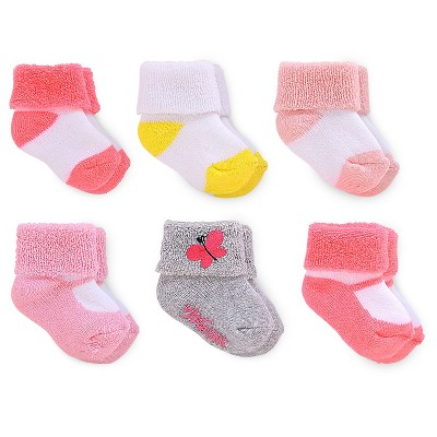 Just One You™ Made by Carter's® Baby Girls' 6pk Socks Pink/Yellow 3-12M
