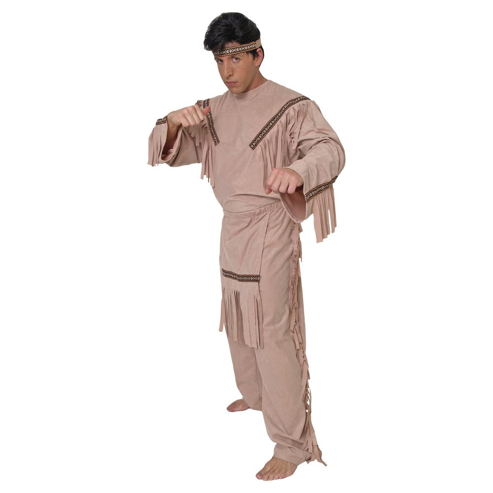 Mens Brave Costume - Medium, Brown