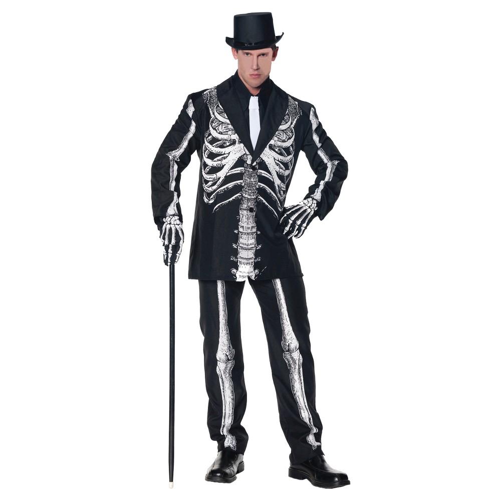 Mens Bone Daddy Adult Costume - (XL), Black
