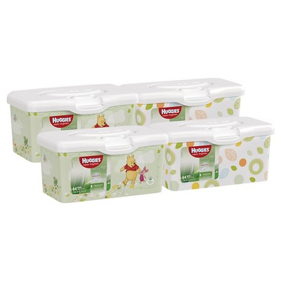 Huggies® Natural Care® Baby Wipes, Pop-Up Tub 64 count (Pack of 4-256 Total Wipes)