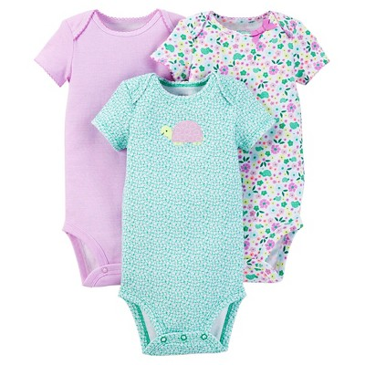 Just One You™ Made by Carter's® Baby Girls' 3pk Bodysuit - Purple NB
