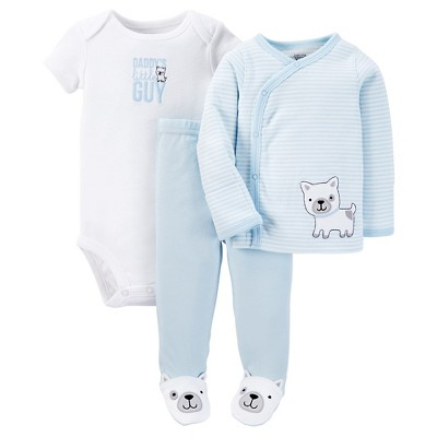 Just One You™ Made by Carter's® Baby Boys' 3pc Striped Bodysuit Set - Blue