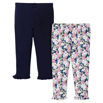 Just One You™ Made by Carter's® Baby Girls' 2pk Legging Pant - Navy 3 M