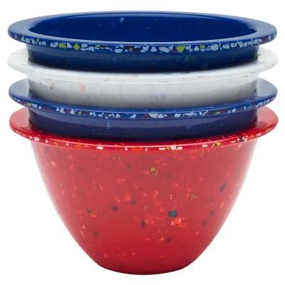 Zak Designs Confetti Prep Bowl Set - Red, White and Blue (4 pc.)