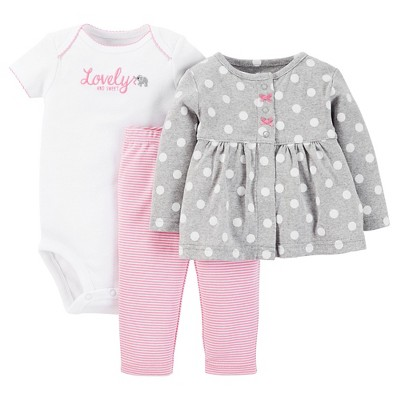 Just One You™ Made by Carter's® Baby Girls' 3pc Pant Set - Pink 6 M