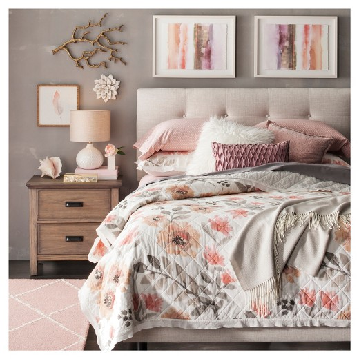 Watercolor Floral Quilt (Full/Queen) - Thresholdâ?¢ : Target : target quilt - Adamdwight.com
