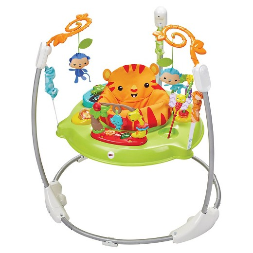 Fisher price roarin 39 rainforest jumperoo green target for Silla nido fisher price