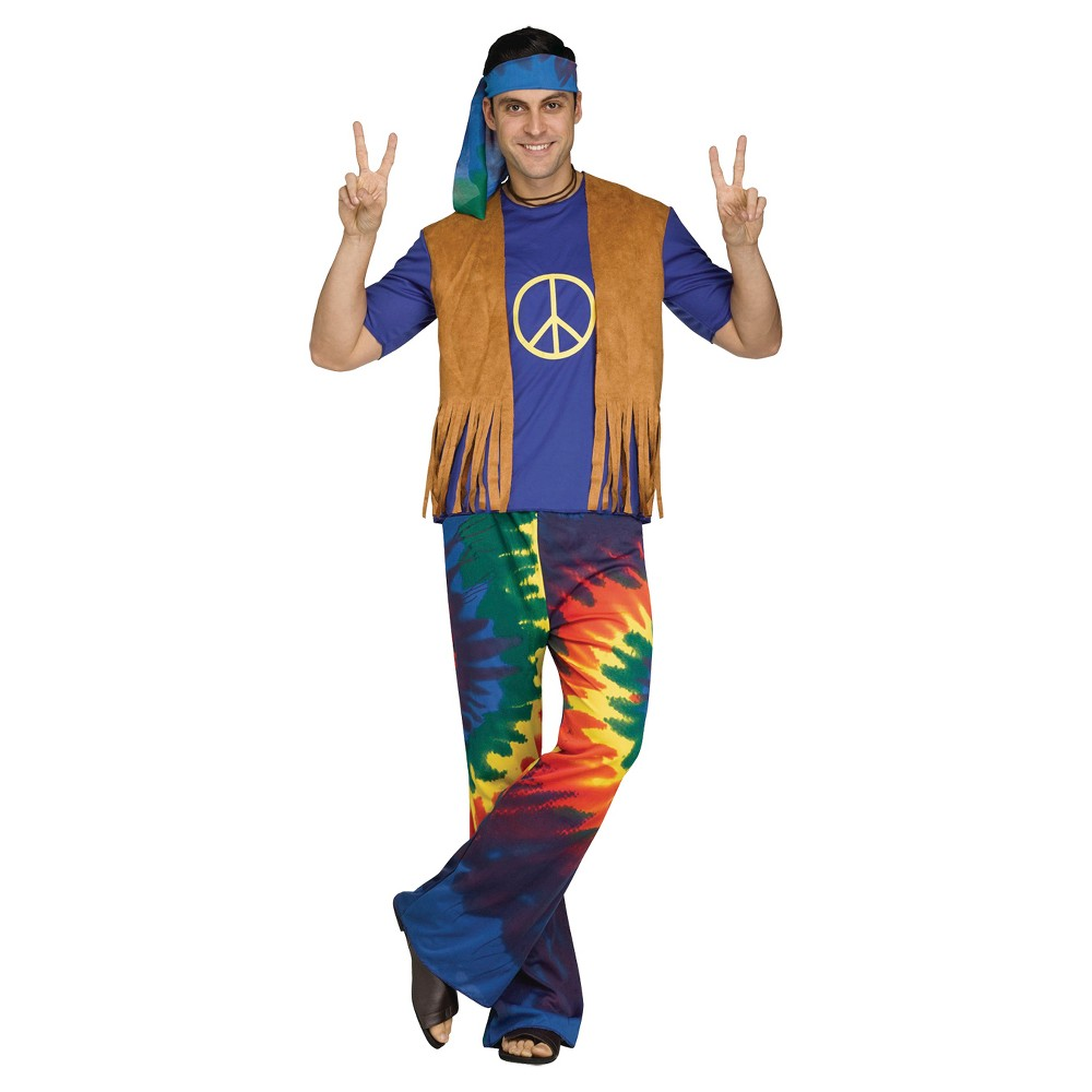 Men's Groovy Guy Costume One Size Fits Most, Multi-Colored