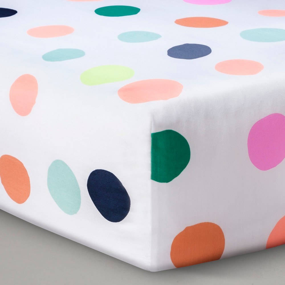 Oh Joy! Woven Fitted Crib Sheet – Dots