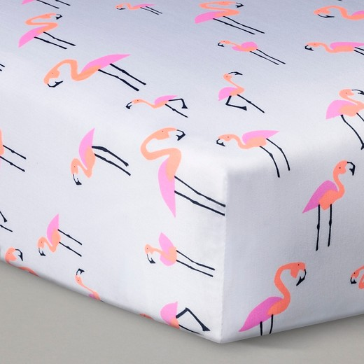 Woven Fitted Crib Sheet - Flamingo - Oh Joy!® Woven Fitted Crib Sheet - Flamingo : Target