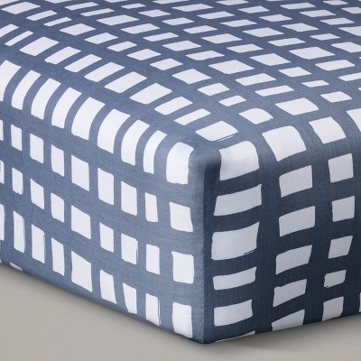 Oh Joy!® Woven Fitted Crib Sheet - Gray Grid