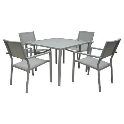 5pc Stack Patio Dining Set - Gray - Threshold™