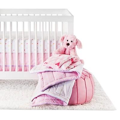 Circo™ 4pc Crib Bedding Set - Rainbow Hearts