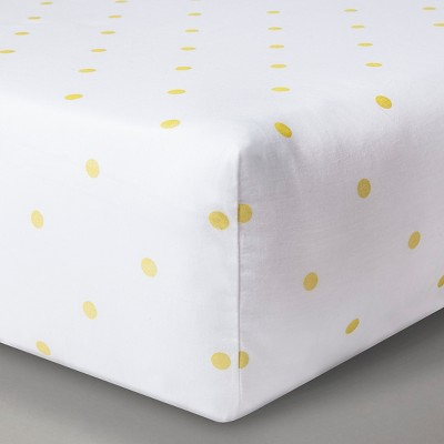 Circo™ Woven Fitted Crib Sheet - Gold Dots
