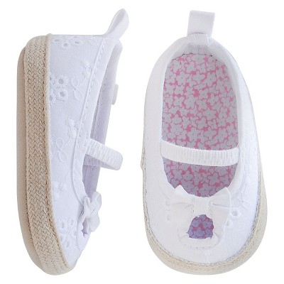 Just One You™ Made by Carter's® Baby Girls' Eyelet Espadrille - White Size 2