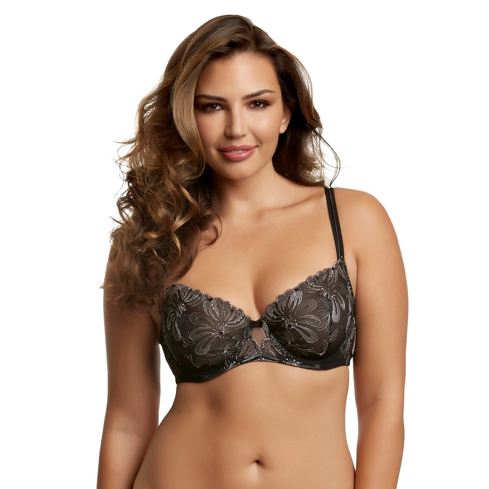 Paramour Womens Ellie Unlined Demi Bra - Black 38D